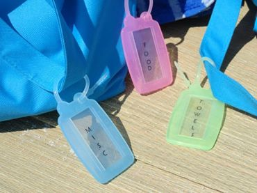 Towel Tag ID multi-use on bags