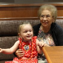 Wordless Wednesdays; Generations - Alivia and Aunty Jean
