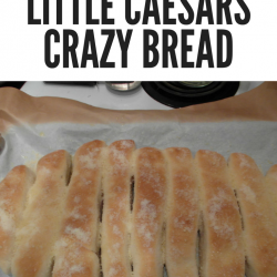 Skip the take out and try this delicious take on Little Caesar's Crazy Bread. Easy to make even on weeknights! #Foodie #CrazyBread #Recipes #MakeAtHome