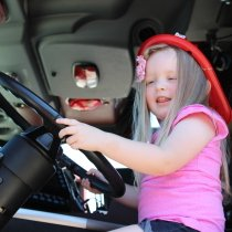 Fire Prevention Week Alivia in Fire Truck
