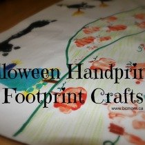 Hand & Footprint Halloween Craft