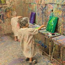 Kidoodles Art Studio Little Kids Splatter Painting