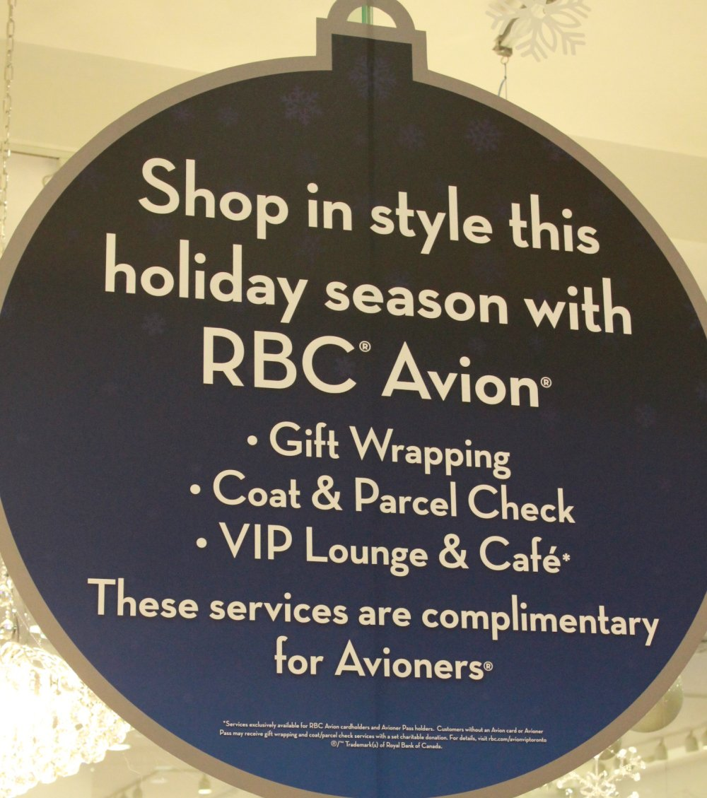 RBC Avion Holiday Boutique Entrance Coquitam Centre