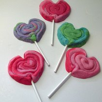Playdough Heart Cookie Pops