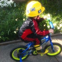 Wordless Wednesday - a boy and his bike