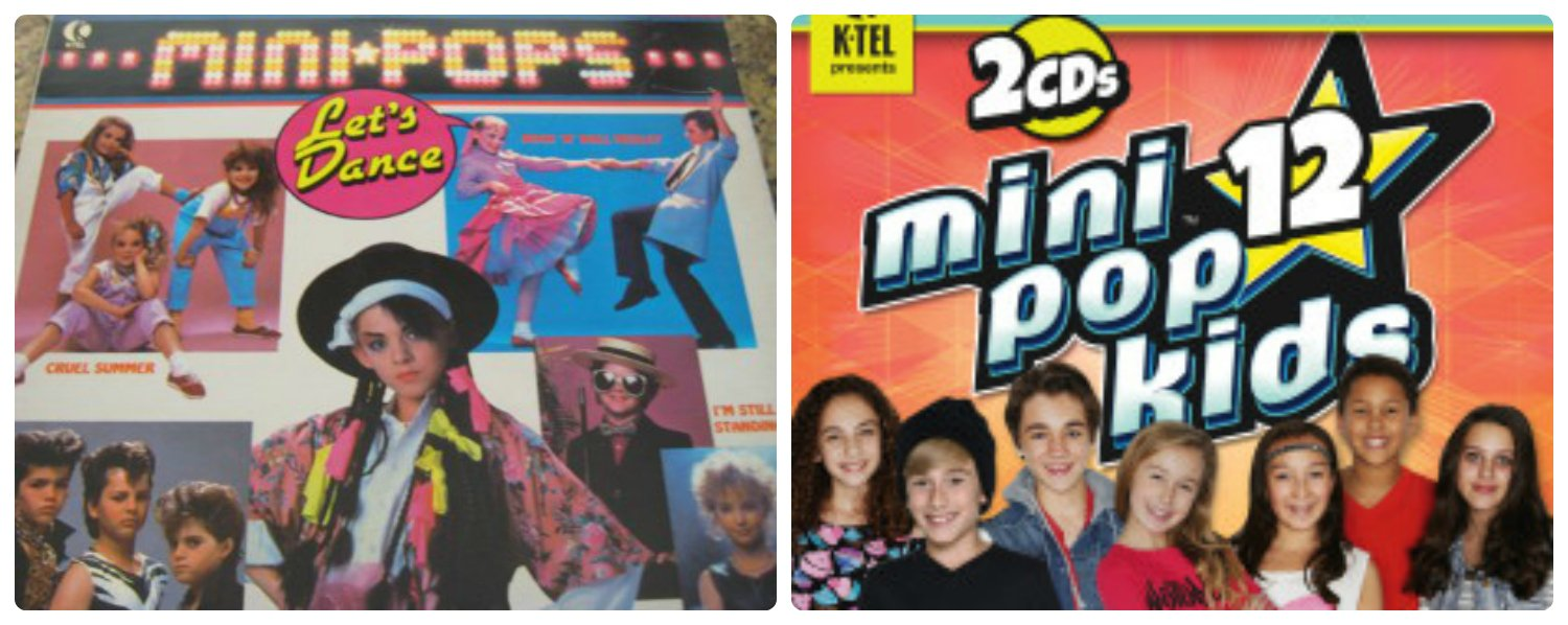 Mini Pops then and now