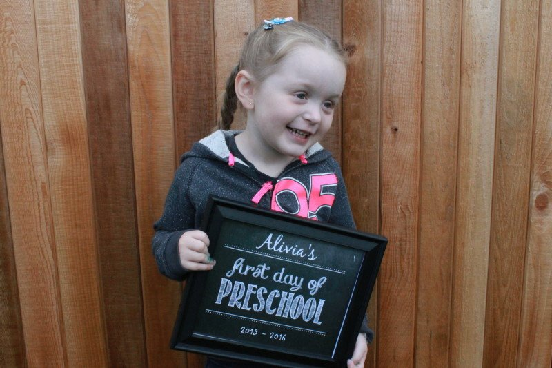 Alivia's First day of Preschool