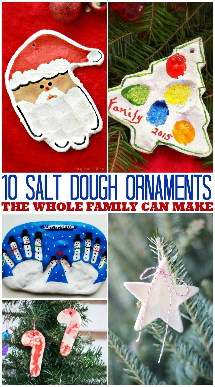 10 Easy DIY Salt Dough Ornament Ideas