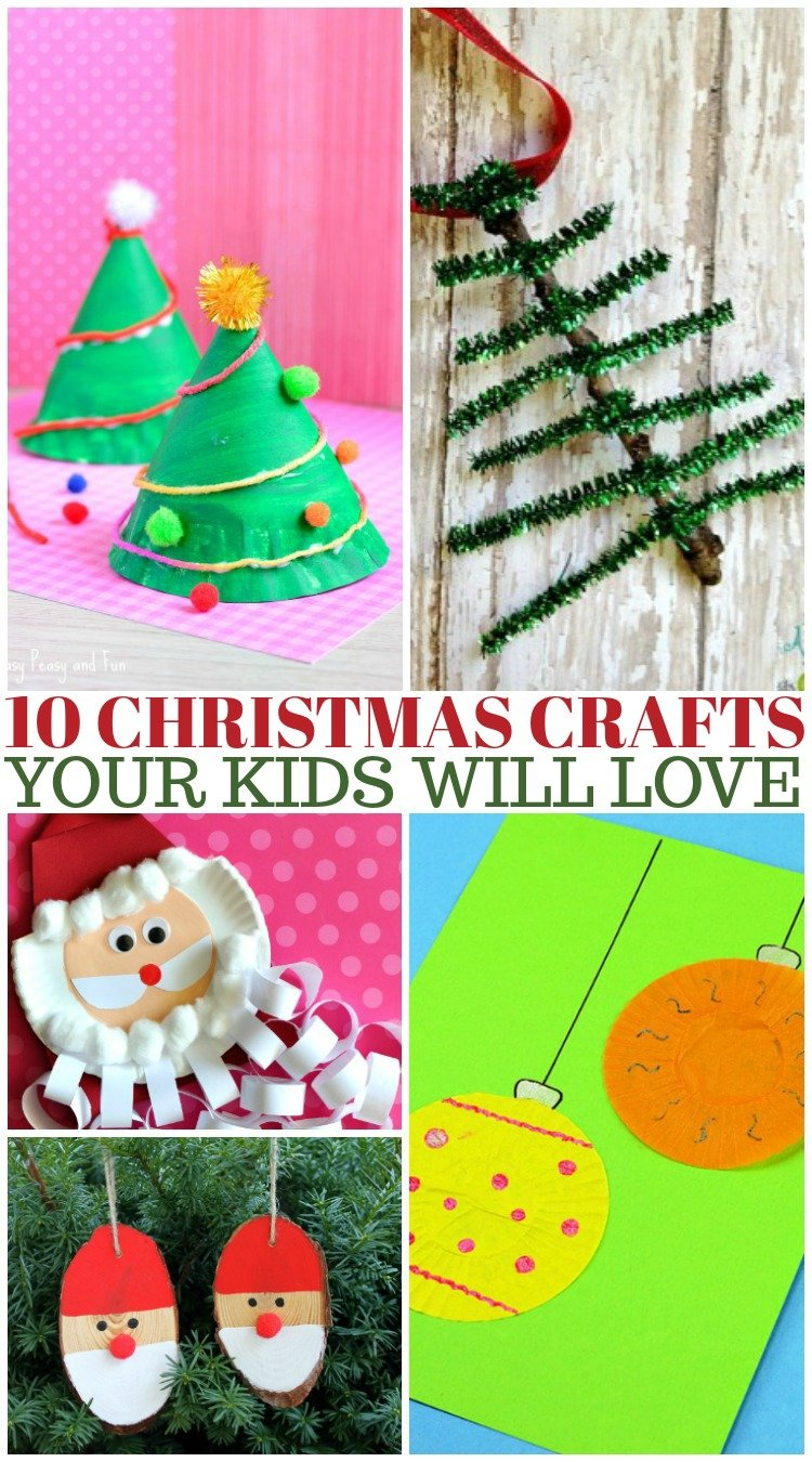 10 Kid-Friendly Christmas Crafts Using Things From Home
