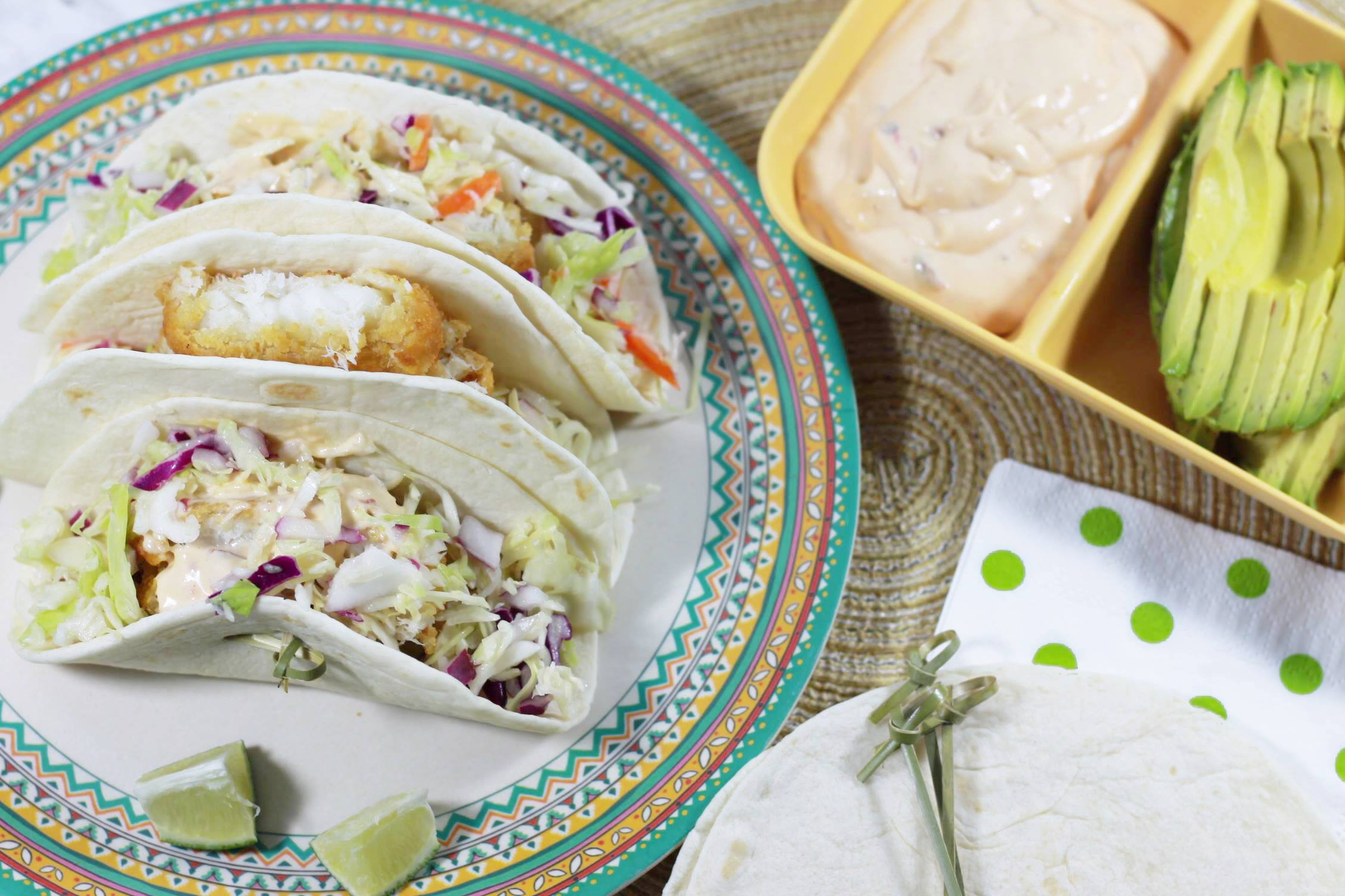 Easy Weeknight Baja Fish Tacos (In Under 30 Minutes!) + #Giveaway!