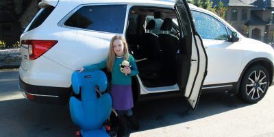 Moving on up to the Essentials by Britax Skyline Booster {Review}