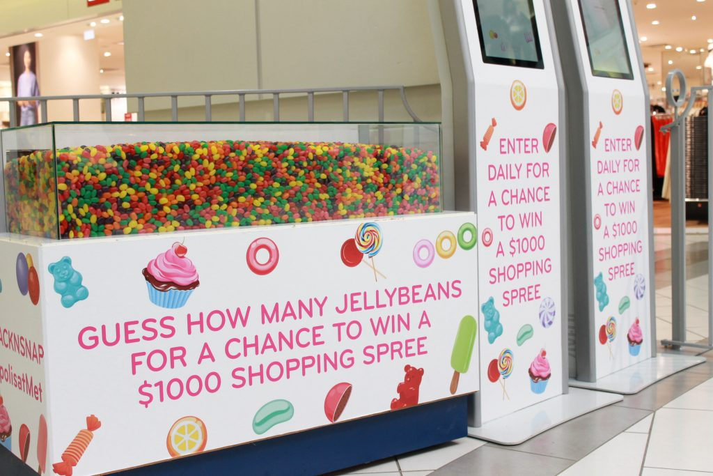 Metropolis at Metrotown Snack N Snap Display Jellybean contest
