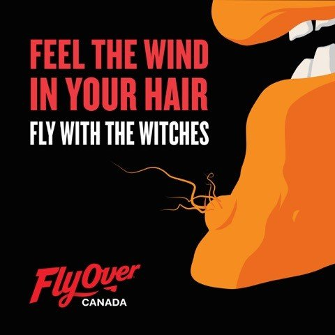 Flyover Canada logo witch chin hair