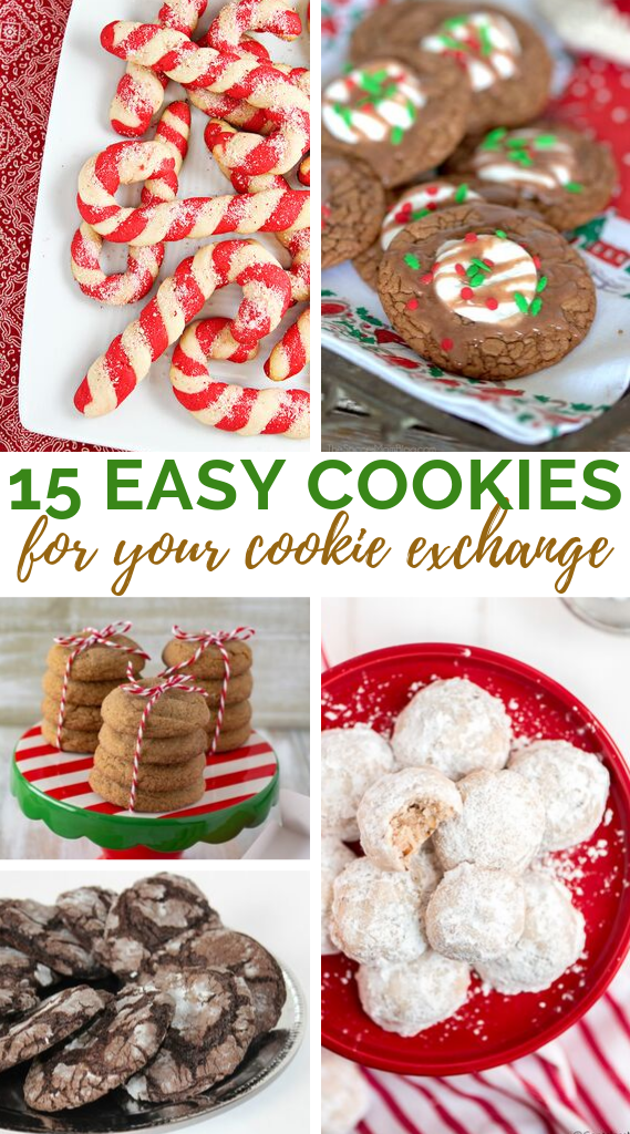 15 Easy Cookies for your Cookie Exchange collage