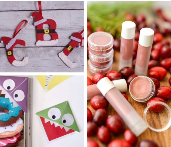 DIY book marks, ornaments and lip balms