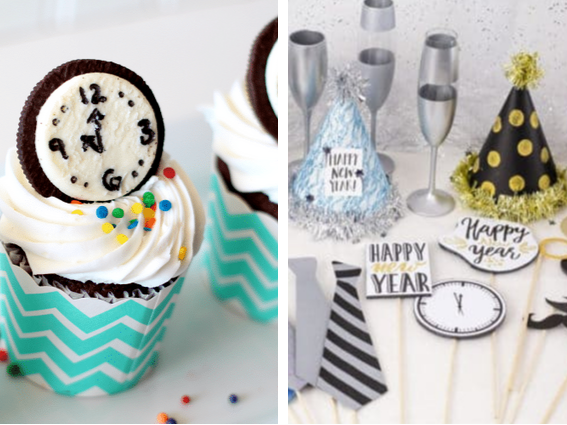 New Years With Kids - Oreo Clock Cupcakes
