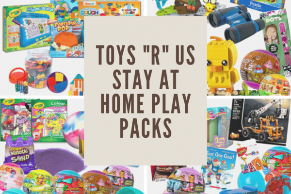 "Stay At Home Play Packs + Enter to win 1 of 2 Toys""R""Us Gift Cards #WashYourHandsChallenge"