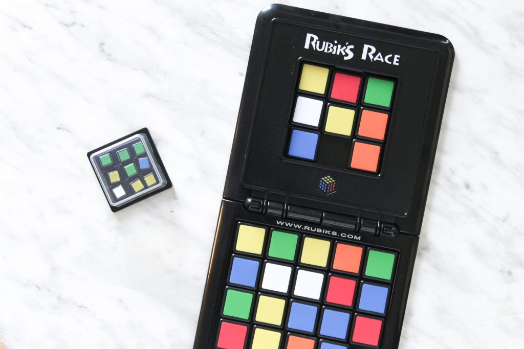 Rubik's Race Playing Board and scramble cube