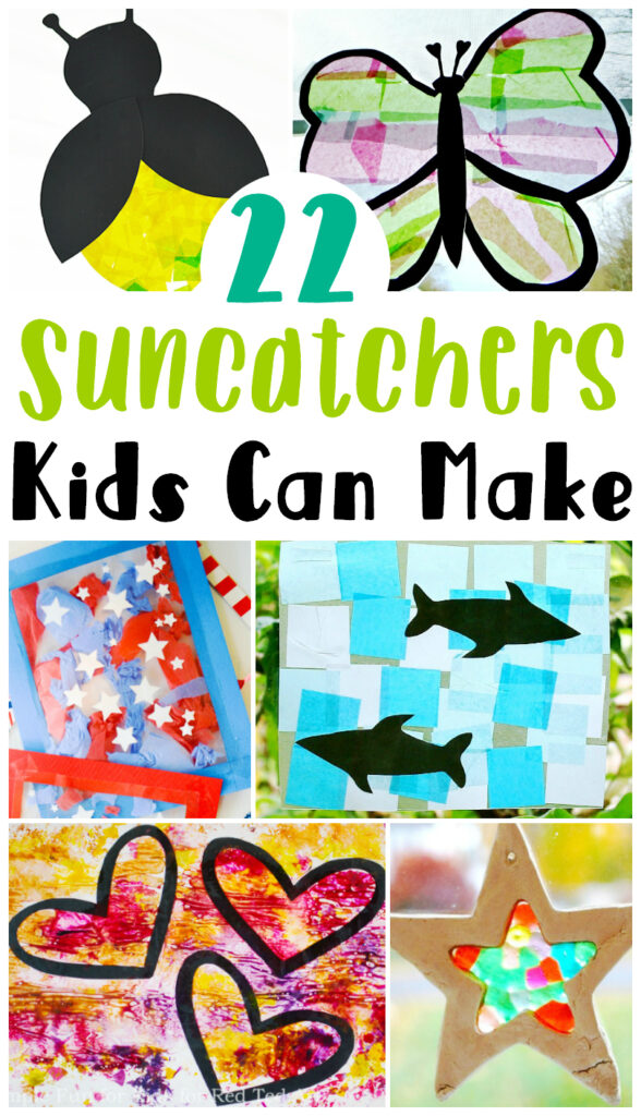 22 Easy and Fun Suncatchers Kids Can Make using items at home.