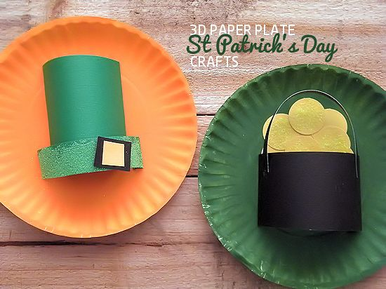3D Paper Play St. Patrick's Day Crafts via www.ourkidthings.com